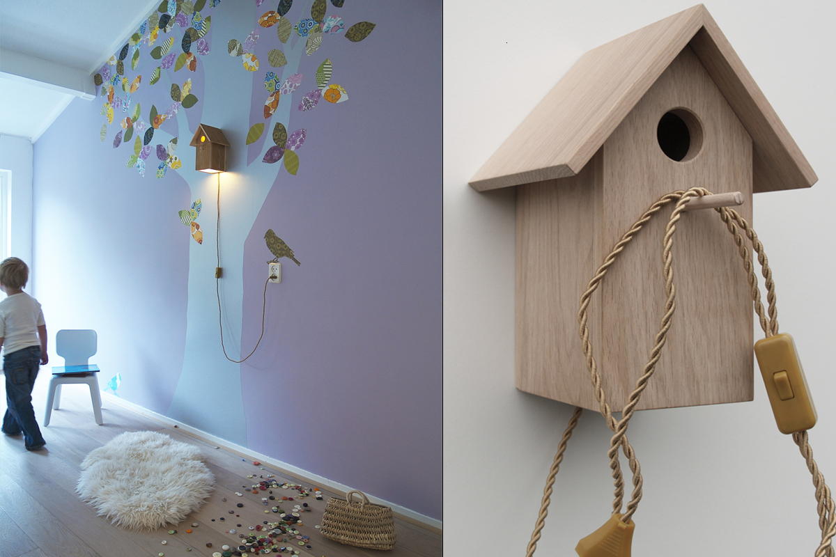 Wallpaper Decals Wallpaper Trees Birdhouse Lamps And