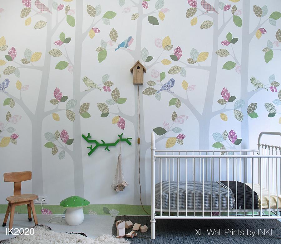 Baby Behang Boom.Behangfiguren Behangbomen Vogelhuislamp En Andere Originele