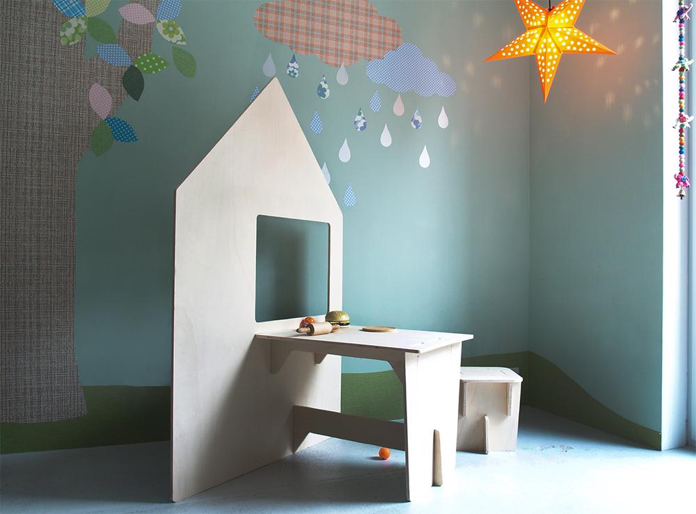 Behang Boom Kinderkamer : Behangfiguren behangbomen vogelhuislamp en andere originele